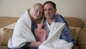 From Jamie Wiseman 12.4.13  Retired couple Georgina and Peter Dias from Ilford in North London who were told by British Gas engineers that their insurance claim would only be considered if they paid nearly £1000 for work to be done to their boiler first.  See Money Mail Story.